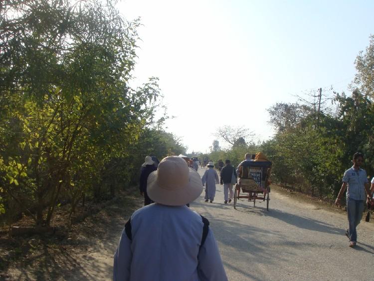 04. Đường dẫn vào khuôn viên Lâm Tỳ Ni (phải đi bộ hoặc đi xe thồ có trả tiền)